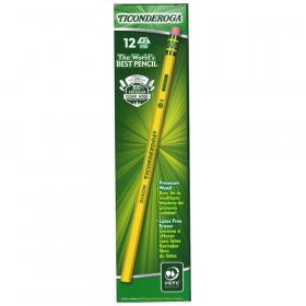 Dixon Ticonderoga No. 2 Pencils, Unsharpened, 12/pkg