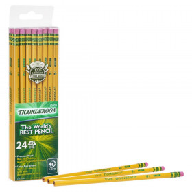 Pencils, #2 Soft, Yellow, Unsharpened, Pack of 24