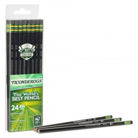 Pencils, #2 Soft, Black, Unsharpened, Pack of 24