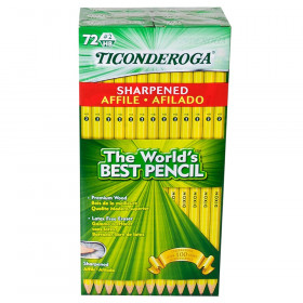 Original Ticonderoga Pencils, Pre-Sharpened, Box of 72