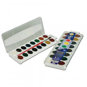 Prang Semi-Moist Washable Watercolor Set, 16 colors