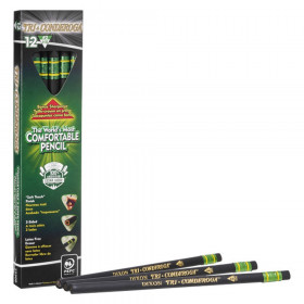 Tri-Conderoga 3-Sided Pencils with Sharpener, Pack of 12