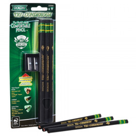 Tri-Conderoga 3-Sided Pencils with Sharpener, Pack of 6