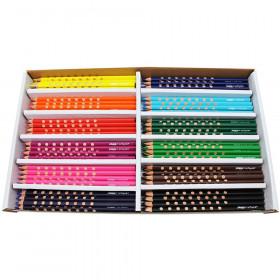 Prang Groove Slim 3.3mm Colored Pencils, 144 Per Pack