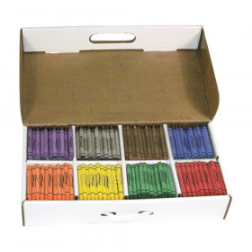 Crayons, Master Pack, 8 Colors (50 Each), 400 Count