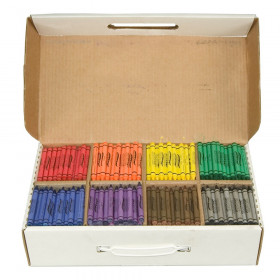 Crayons Master Pack, 8 Colors (100 Each), 800 Count