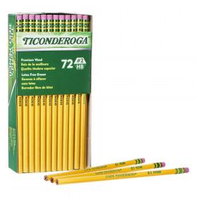 Original Ticonderoga Pencils, No. 2 Soft, Unsharpened, Box of 72