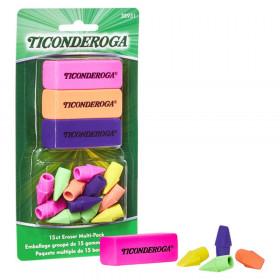 Eraser Combo Set, Neon, 3 Beveled, 12 Wedge Cap