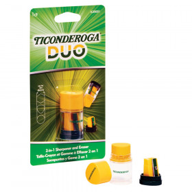 DUO Sharpener/Eraser, Green and Yellow, 1 Count