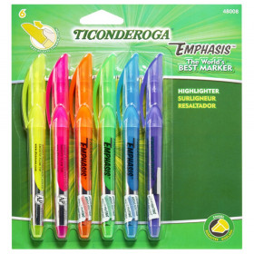 Emphasis Pocket Style Highlighters, 6-Color Set