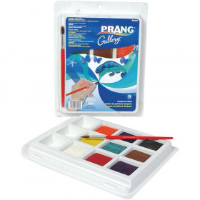 Gallery Tempera Cake Set, 9 Colors with Brush
