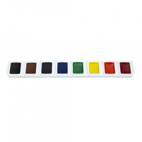 Half Pan Watercolor Refill Tray, 8 Colors, 3 Trays