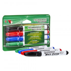 Dry Erase Markers, Chisel Tip, 4 Assorted Colors