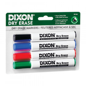 Dry Erase Markers Wedge Tip, 4 Color Set