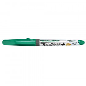 RediSharp+ Fine Point Permanent Markers, Green, Pack of 12