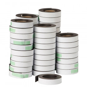 "Magnet Strip with Adhesive, 0.5"" x 30"", 48 Rolls"