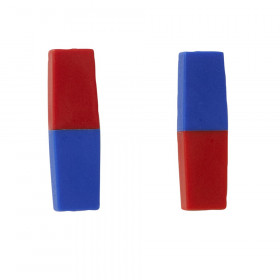 """North/South Bar Magnets 3"""", Red/Blue Poles, Pack of 2"""