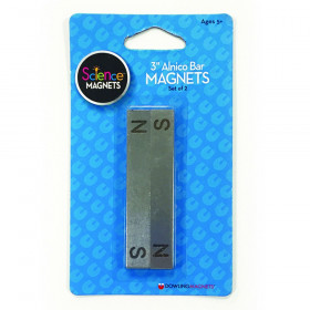 """Alnico Bar Magnets 3"""", N/S Stamped, Pack of 2"""