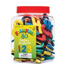 Foam Fun! Number Magnets, 80/Pack