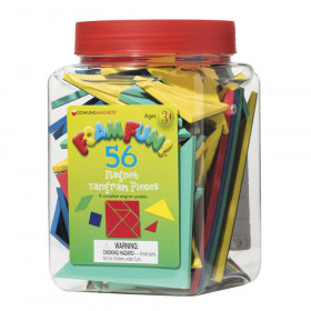 Foam Fun! Magnet Tangrams Pieces, 56/Pack