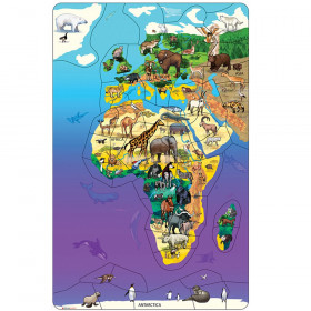 Animal Magnetism Magnetic Wildlife Map Puzzle: Eurasia & Africa