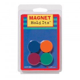 "Eight 1"" ceramic disc magnets, assorted colors."