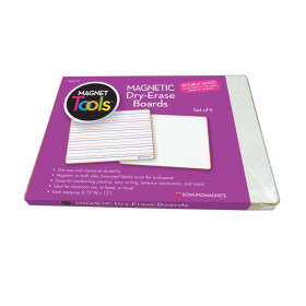 Magnetic Dry-Erase Lined & Blank Board, Set of 5