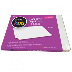 Magnetic Dry Erase Boards, Double-Sided Blank/Blank, Set of 5