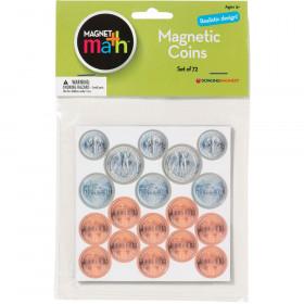 Magnet Coins - 8 Quarters 12 Dimes 12 Nickels & 40 Pennies