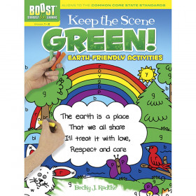 Boost Keep The Scene Green Coloring Book Gr 1-2