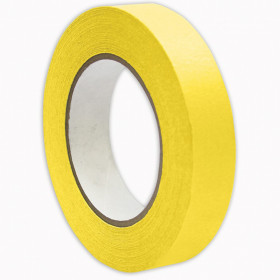 "Premium Grade Masking Tape, 1"" x 55 yds, Yellow"
