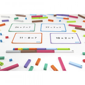 Wooden Number Rods, 156 Pieces