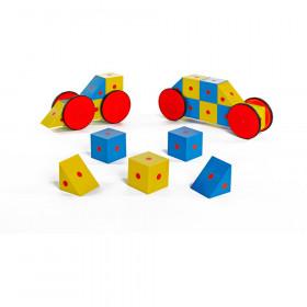 3-D Magnetic Block Set, 20 Pieces