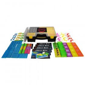 Circuit Blox 120, Circuit Board Building Blocks Classroom Set, 196 Pieces