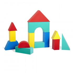 Giant Block Set, Assorted Colors & Shapes, 16 Pieces