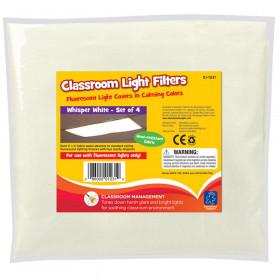 Classroom Light Filters, Whisper White, Set of 4