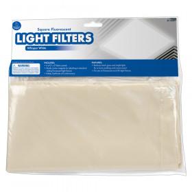 Classroom Light Filters, 2' x 2', Whisper White, Set of 4