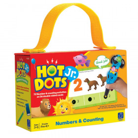 Numbers & Counting Hot Dots Jr. Card Set, 72/pkg