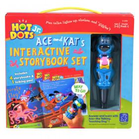 "Hot Dots Jr. Interactive Storybooks, 4-Book Set plus ""Ace"" Pen"
