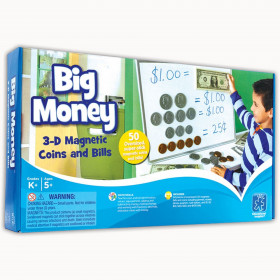 Big Money Magnetic Coins & Bills, 50/pkg