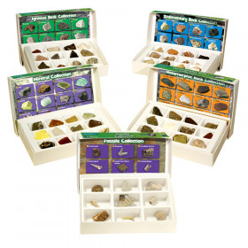 GeoSafari Complete Rock, Mineral, & Fossil Collections, Set of 57