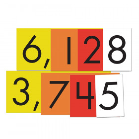 4-Value Whole Numbers Place Value Cards Set, 40 Cards