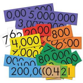 10-Value Decimals to Whole Numbers Place Value Cards Set, Pack of 100