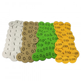 Sensational Math 4-Value Decimals to Whole Number Place Value Discs, Pack of 1200