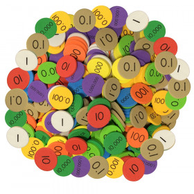 Sensational Math 10-Value Decimals to Whole Numbers Place Value Disc, Pack of 3000