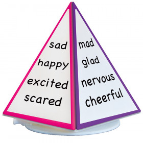 Spin & Write Pyramid Rotating 4-Sided Dry-Erase Board