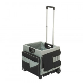 Universal Rolling Cart and Organizer Bag, Black