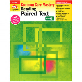 Gr 6&Up Reading Paired Text Lessons For Common Core Mastery