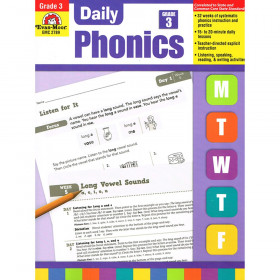 Evan-Moor Daily Phonics Practice Book, Grade 3