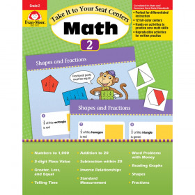 Take It to Your Seat Math Centers Book, Grade 2